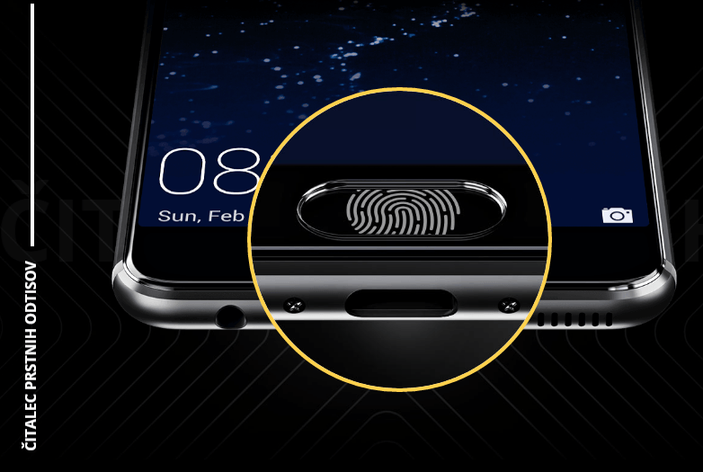 Huawei P10 čitalec prstnih odtisov
